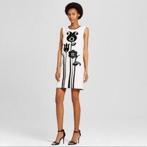 Victoria Beckham Blk/Wht Mod Shift Dress Tulip